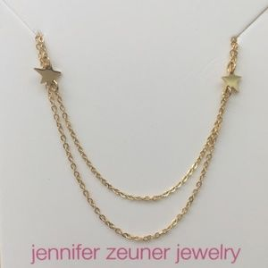 NWOT Jennifer Zeuner Double Chain Star Necklace
